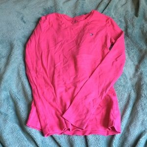 pink long sleeve tommy shirt
